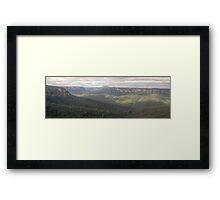 I Love Her Far Horizons - Govetts Leap, Blackheath - The HDR Experience Framed Print