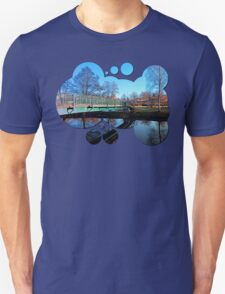 A bridge, the river and reflections II | waterscape photography T-Shirt