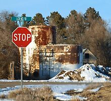 Rusty Old Fuel Tanks by Barb Miller