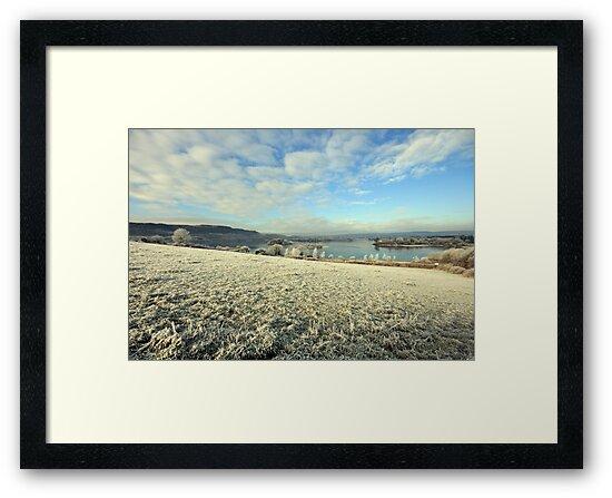 Inchiquin Lake in winter by John Quinn