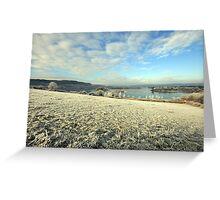Inchiquin Lake in winter Greeting Card
