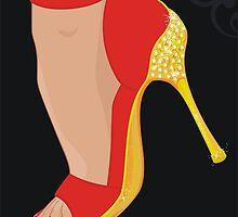 red stiletto  by torishaa