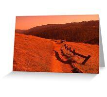Russian Ridge, San Francisco Bay Area Hiking Greeting Card