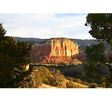 Rocky Outcropping at Ghost Ranch Photographic Print