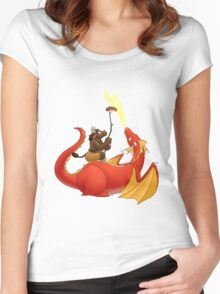 Dragon barbecue Women's Fitted Scoop T-Shirt