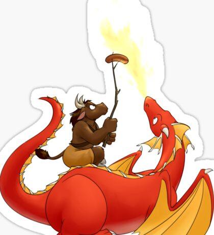 Dragon barbecue Sticker