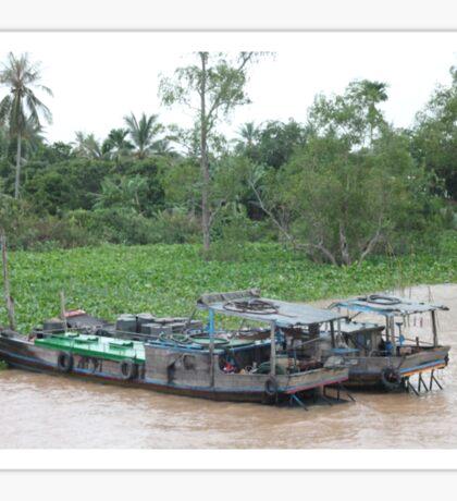Mekong Boats, Vietnam: Backpacking Sticker