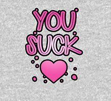You suck heart Womens Fitted T-Shirt