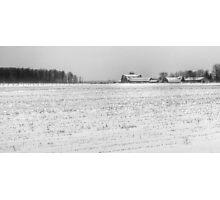 Snowy Farm Photographic Print