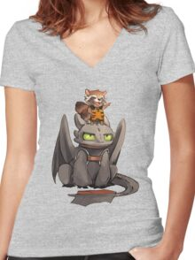How to train your dragon ! Women's Fitted V-Neck T-Shirt