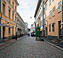 Helsinki City Street Scene by robert cabrera