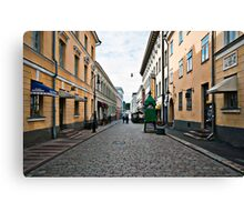 Helsinki City Street Scene Canvas Print