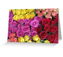 Roses, roses, roses... Greeting Card