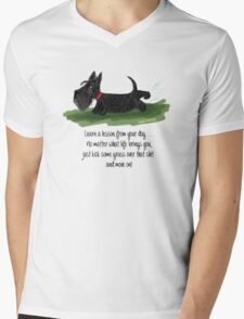 Learn a lesson from your dog . . . Mens V-Neck T-Shirt