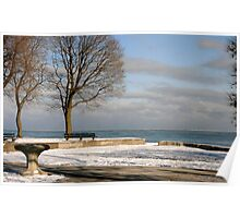 Lake Michigan in Winter Poster
