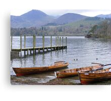 Keswick. Down the jetty. Canvas Print