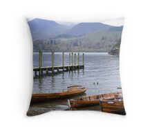 Keswick. Down the jetty. Throw Pillow
