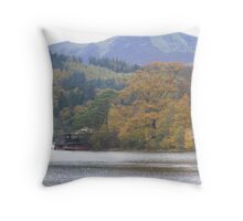 Autumn colours across Keswick Throw Pillow