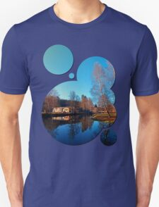 Winter mood on the river II | waterscape photography T-Shirt
