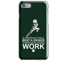 Rock Lee - A Dropout Will Beat A Genius Through Hard Work - White iPhone Case/Skin