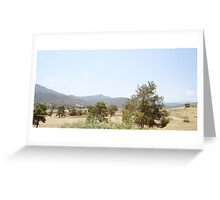 a wonderful Cyprus landscape Greeting Card