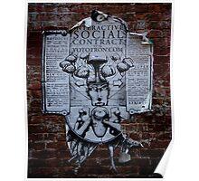 Social Contract Graffiti Poster