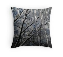Icicle fence Throw Pillow