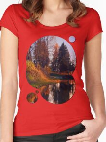 Romantic evening at the lake II | waterscape photography Women's Fitted Scoop T-Shirt