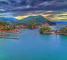 Port of Parga by Kounelli