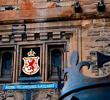 Lion Rampant at Edinburgh Castle by Gary Winters