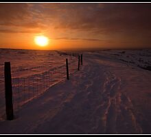 Sunset from Cown Edge by Shaun Whiteman