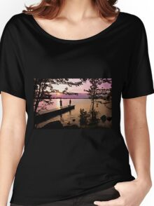 Boys Fishing, Terrasse Vaudreuil, Ile Perrot Women's Relaxed Fit T-Shirt