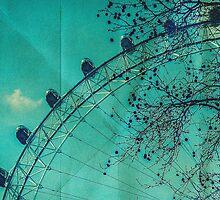 Vintage London Eye by schwebewesen