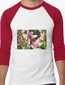Lycoris, Peppermint Surprise Lily (Lycoris incarnata) Men's Baseball ¾ T-Shirt