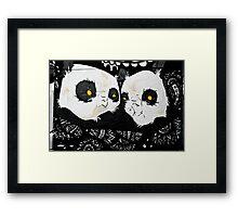 Graffiti pandas Framed Print