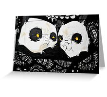 Graffiti pandas Greeting Card