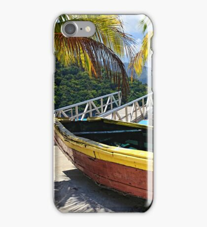 Old Wooden Boat, Labadee Haiti iPhone Case/Skin