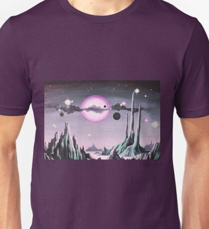 Purple Moonscape Unisex T-Shirt