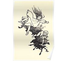 The Zankiwank & the Bletherwitch by Shafto Justin Adair Fitz Gerald art Arthur Rackham 1896 0097 Tumbling Poster
