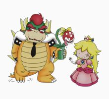 Princess Peach X Bowser Kids Clothes