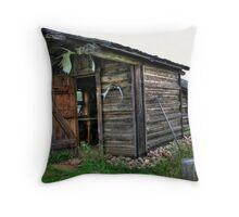 Sunflower cabin Throw Pillow