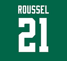 Dallas Stars Antoine Roussel Jersey Back Phone Case by Russ Jericho