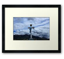 Cross and Scarf Framed Print