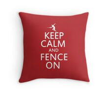 Keep clam and fence on Throw Pillow