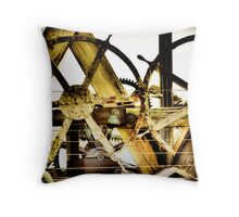 down by the pier Throw Pillow