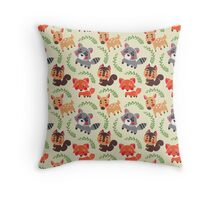 The Happy Forest Friend Throw Pillow