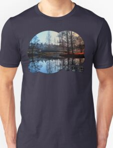 A bridge, the river and reflections | waterscape photography T-Shirt