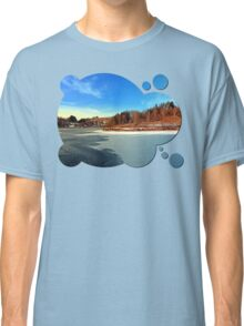 Frozen river panorama | waterscape photography Classic T-Shirt