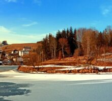 Frozen river panorama | waterscape photography Sticker
