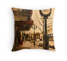 Saturday on Broadway Throw Pillow